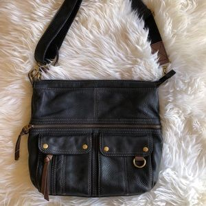 Fossil Morgan Black Leather Purse